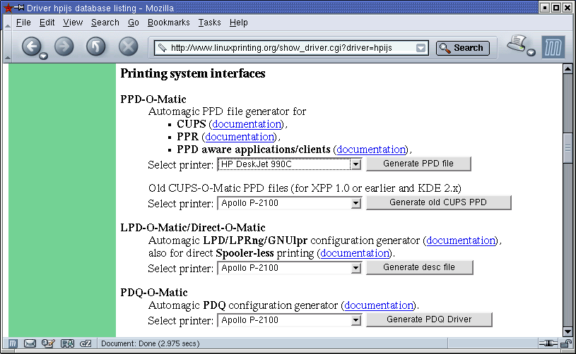 II ) Foomatic from the User's Point of View: Installing a